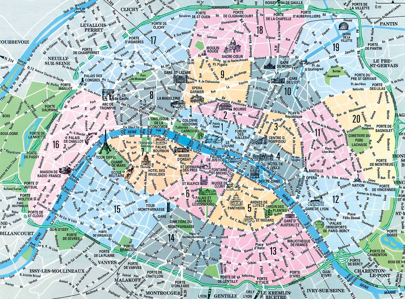 Отели в париже по округам