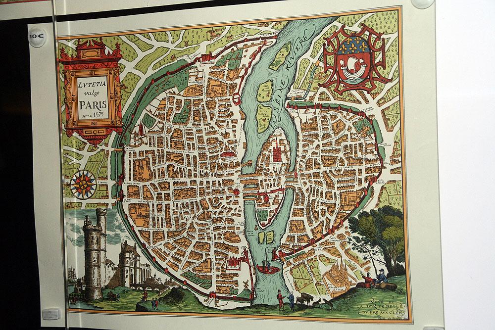 План средневекового Парижа
