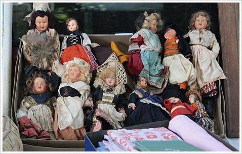 Винтажные куклы на блошином рынке