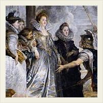 Одна из картин, посвященных М. Медичи