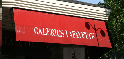 Галерея Лафайет на бульваре Haussmannm, Париж