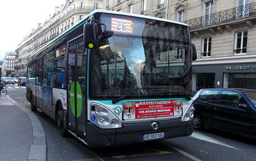 Автобусы в Париже