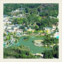 Вид на парке Астерикс с воздуха