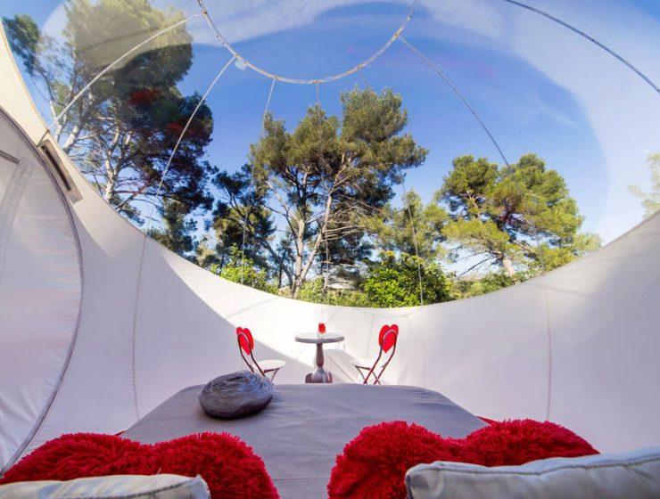Отель в виде воздушного шара в Рубе