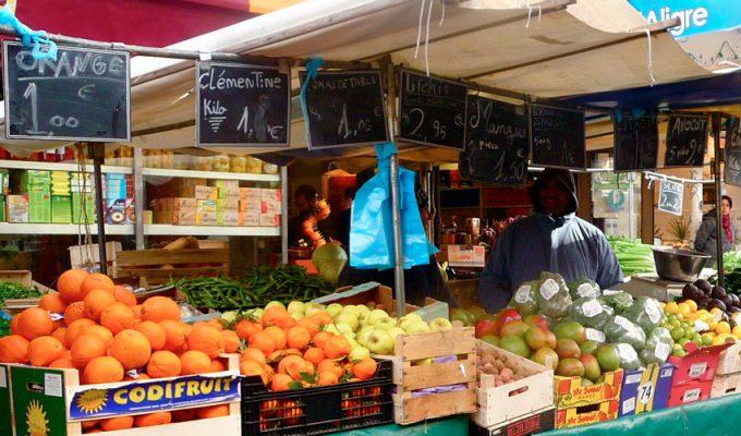 Продуктовые рынки в Париже