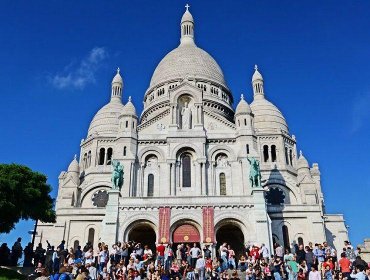 Базилика Сакре-Кёр (Basilique du Sacre Coeur) в Париже