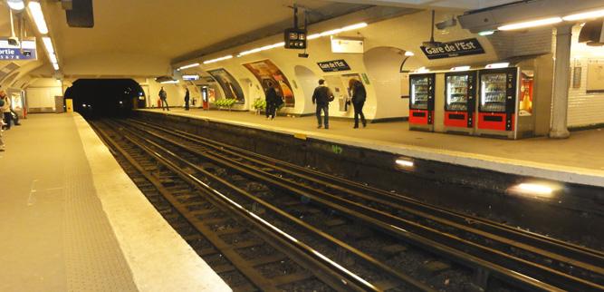 Как пользоваться метро в Париже - платформы на станции