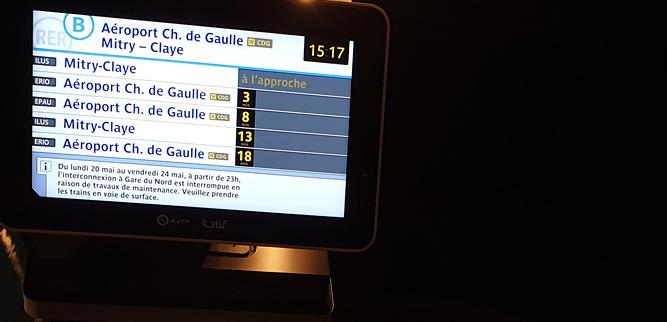 Как пользоваться метро в Париже - информационное табло