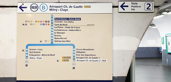 Как пользоваться метро в Париже - Указатель на станции