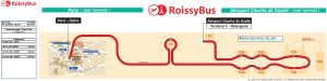 Карта маршрута Roissybus (автобуса №352)