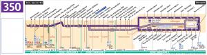 Карта маршрута автобуса №350