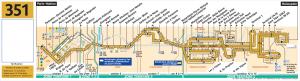 Карта маршрута автобуса №351
