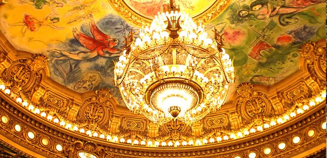 Опера Гарнье - Потолок зрительного зала