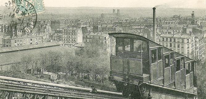 Фуникулер на Монмартре в Париже